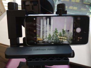 セレストロン C5 スマートフォン 撮影