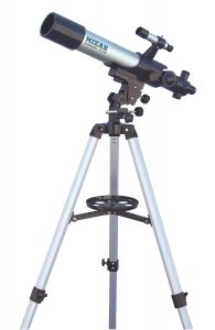 女性におすすめ天体望遠鏡/MIZAR-TEC(ミザール) 天体望遠鏡 屈折式 口径70mm 焦点距離500mm 上下左右微動装置付きマウント TL-750
