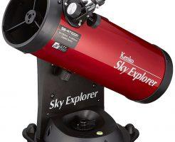 女性におすすめ天体望遠鏡/Kenko(ケンコー)Sky Explore(スカイエクスプローラー) SE-AT100N RD 反射式 口径100mm 焦点距離450mm 卓上型 自動追尾機能付