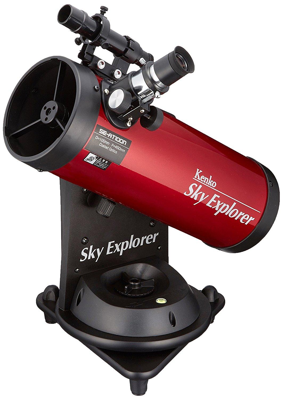 女性におすすめ天体望遠鏡/Kenko(ケンコー)スカイエクスプローラー SE-AT100N RD 卓上型 自動追尾機能付